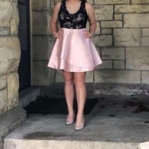 Pink and Black BCX Homecoming Dress